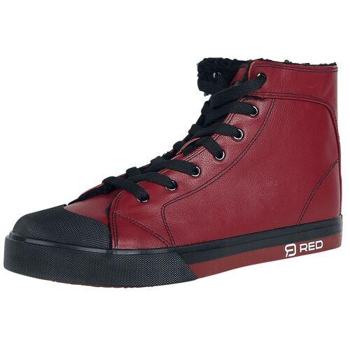 RED by EMP Walk The Line Sneaker high dunkelrot