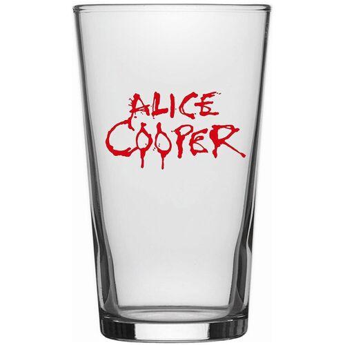 Alice Cooper Logo Pint-Glas-klar - Offizielles Merchandise klar