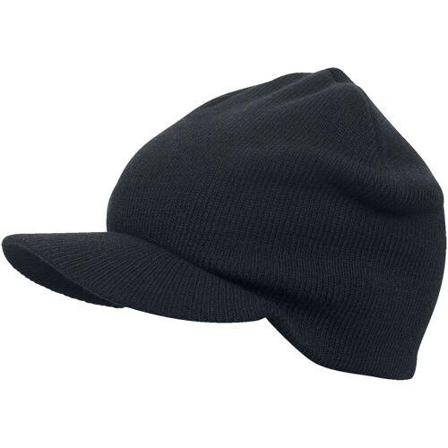 Urban Classics Visor Beanie Mütze-schwarz schwarz