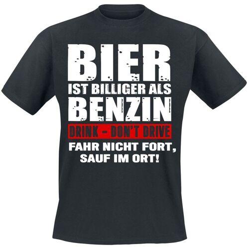 Bier ist billiger als Benzin Herren-T-Shirt