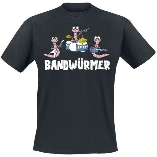 Bandwürmer Herren-T-Shirt schwarz