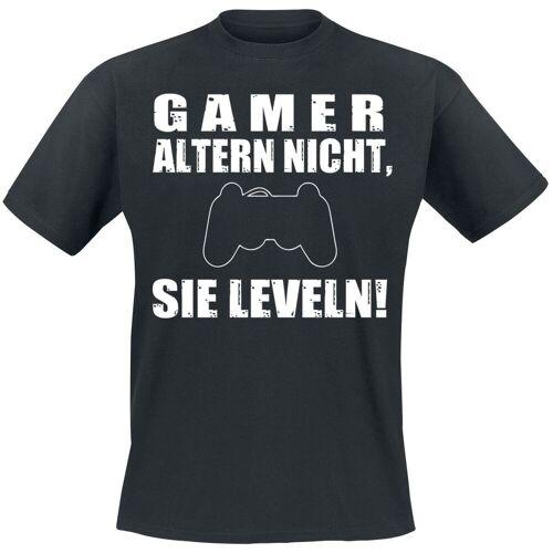 Gamer altern nicht, sie leveln! Herren-T-Shirt