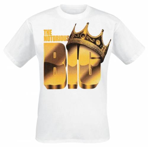 Notorious B.I.G. Biggie Basketball Herren-T-Shirt  - Offizielles Merchandise weiß