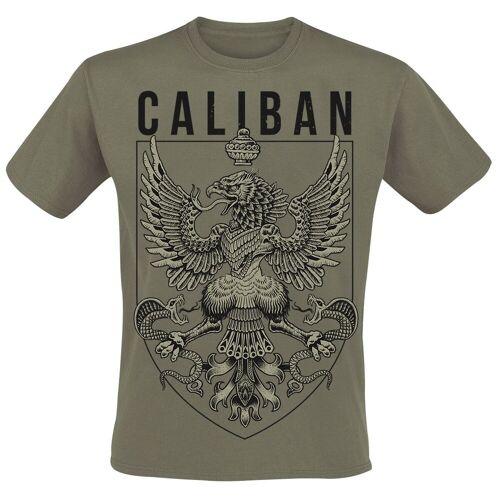 Caliban Eagle Axe Herren-T-Shirt  - Offizielles Merchandise oliv