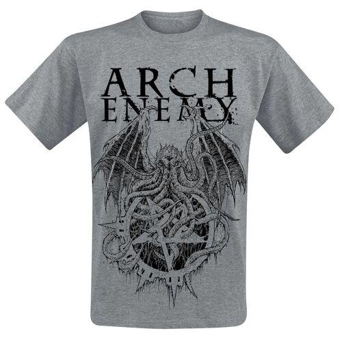 Arch Enemy CTHULHU Herren-T-Shirt  - Offizielles Merchandise grau meliert