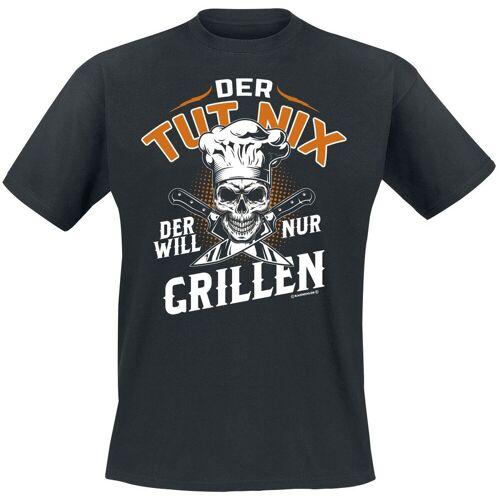 Der will nur grillen Herren-T-Shirt schwarz