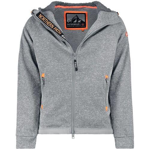 Hailys Sweatjacket Neon Herren-Kapuzenjacke grau