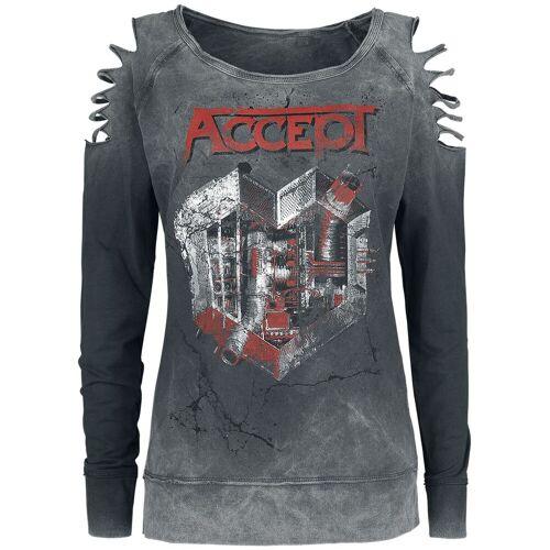 Accept Metal Heart Damen-Langarmshirt  - Offizielles Merchandise dunkelgrau