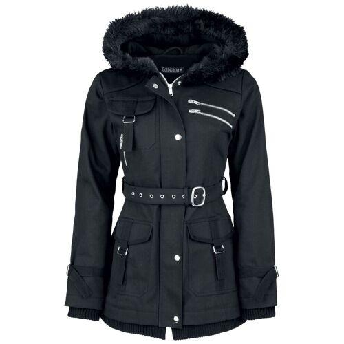 Gothicana by EMP Multi Pocket Jacket Damen-Winterjacke schwarz