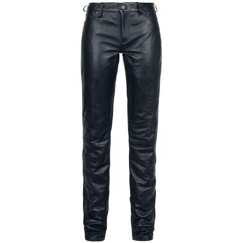 Gipsy Ggwhitley LNV Damen-Lederhose schwarz