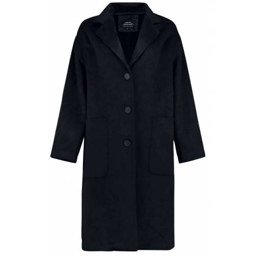 Hailys Denise Damen-Mantel schwarz