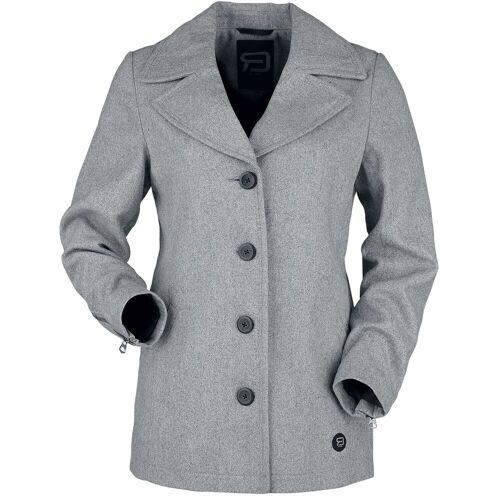 RED by EMP grauer kurzer Mantel Damen-Kurzmantel grau