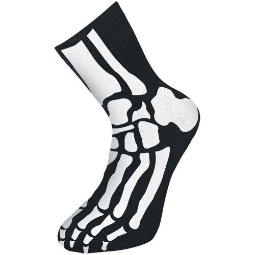 Skelett Socken schwarz