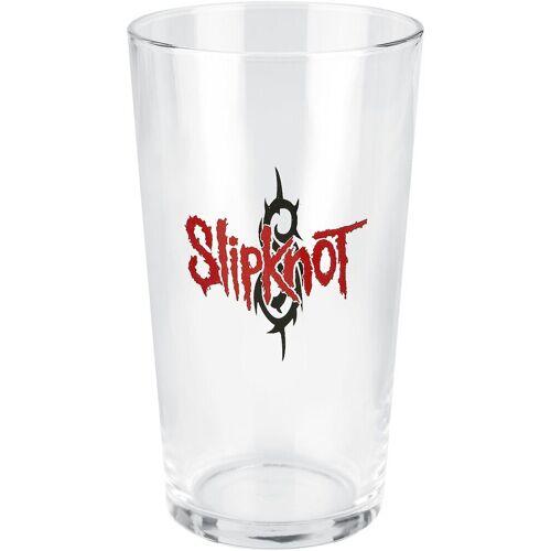 Slipknot Slipknot Logo Pint-Glas-klar - Offizielles Merchandise klar