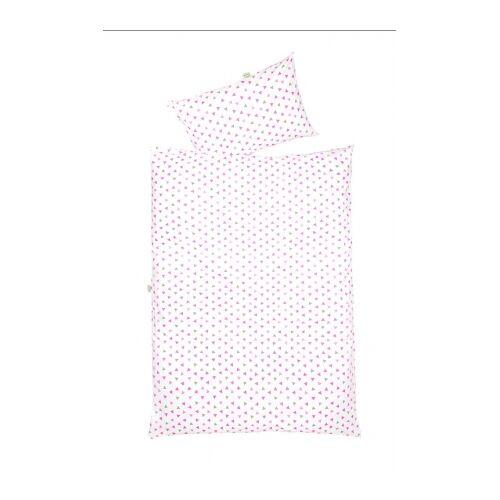 Odenwälder 2068/1117 Jersey Bettwäsche Dreiecke pink 100x135cm
