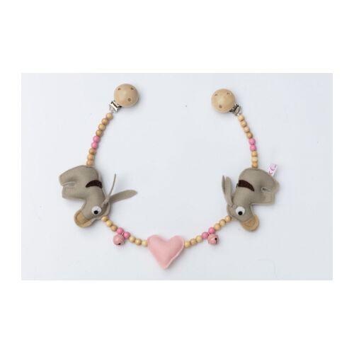 Deine Sommerliebe Kinderwagenkette Esel rosa