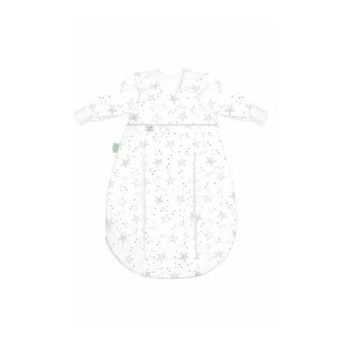 Odenwälder SET Unterzieh-BabyNest® & prima klima Jersey-Schlafsack scribble stars grey 60/70