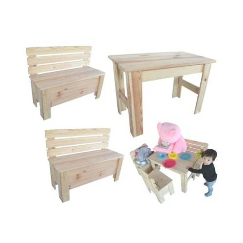 Kindertisch Holztisch Kinderbank Holzbank Sitzgruppe Tisch Bank Holz