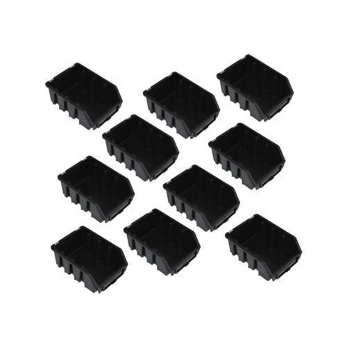 10 schwarze Schütten Sichtlagerboxen Lagerbox Lagersichtboxen Gr. 2