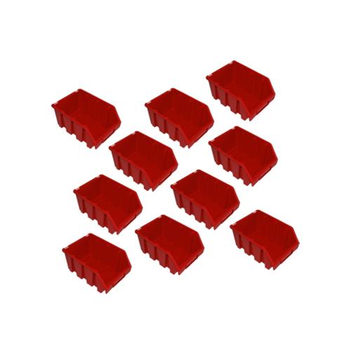 10 rote Lagerkästen Sichtlagerboxen Lagerbox Lagersichtboxen Gr. 3