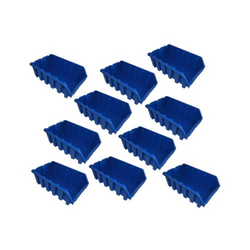 10 große blaue Sichtlagerboxen Lagerbox Lagersichtboxen Gr. 5