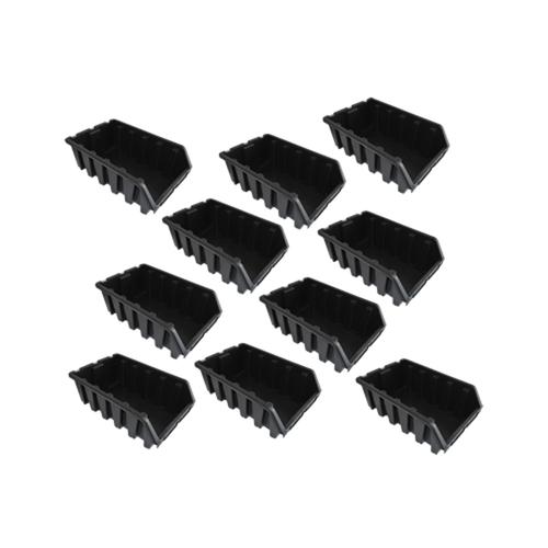 Set aus 10 schwarzen Sichtlagerkästen Sichtlagerbox Sichtboxen Gr. 5