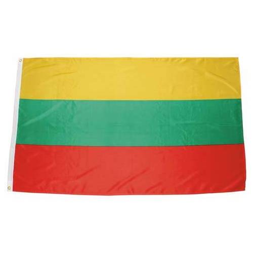 Fahne, Litauen, Polyester, Gr. 90 x 150 cm