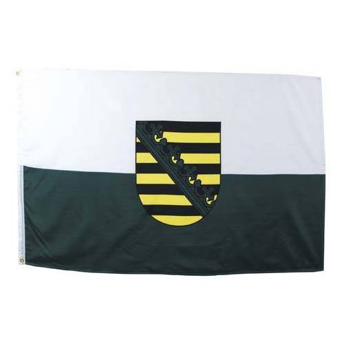 Fahne, Sachsen, Polyester, Gr. 90x150 cm
