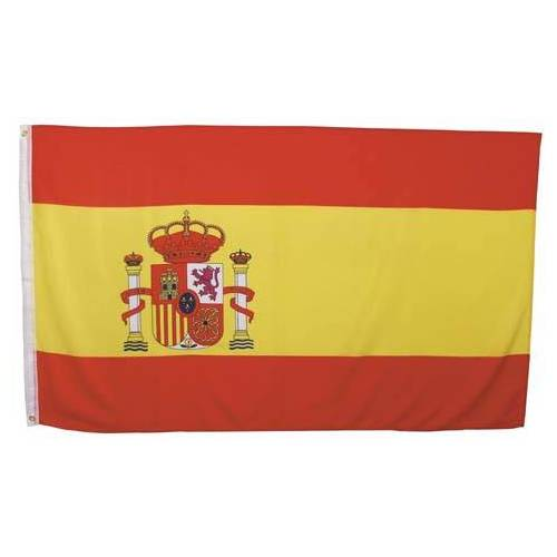 Fahne, Spanien, Polyester, Gr. 90 x 150 cm