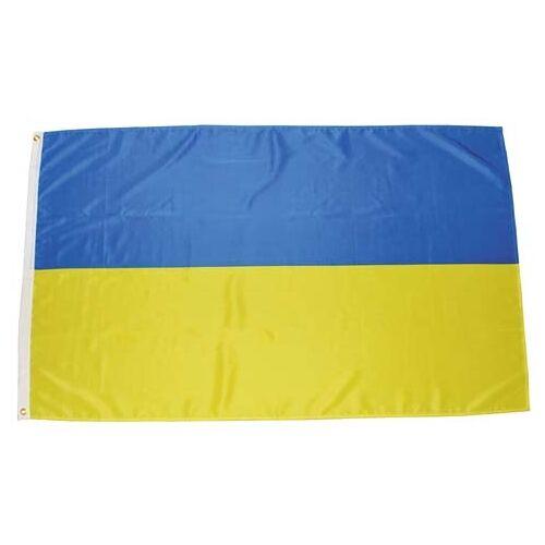 Fahne, Ukraine, Polyester, Gr. 90 x 150 cm