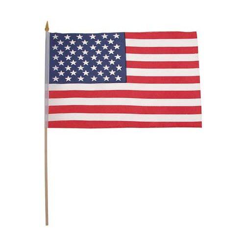 Fahne, USA, Polyester, Holzstiel, Gr. 30x45 cm