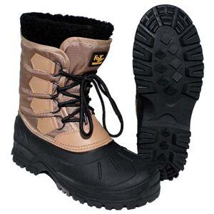 Kälteschutzstiefel, geschnürt, khaki/sw warme wasserdichte Winter-Stiefel