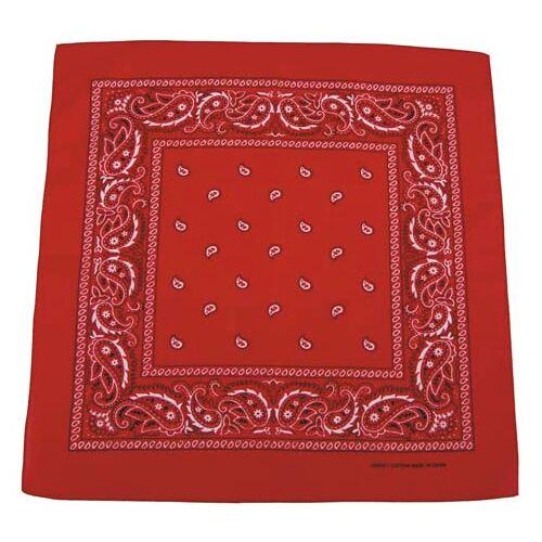 Bandana, rot-weiß, Gr. 55 x 55 cm, Baumwolle Mundschutz Mund- Nase- Schutz