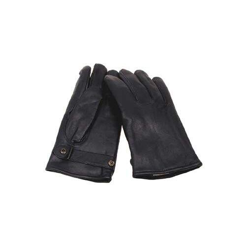 BW Lederhandschuhe, gefüttert, schwarz, Mod.