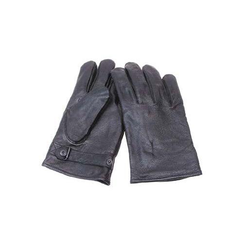 BW Lederhandschuhe, gefüttert, grau, Mod.