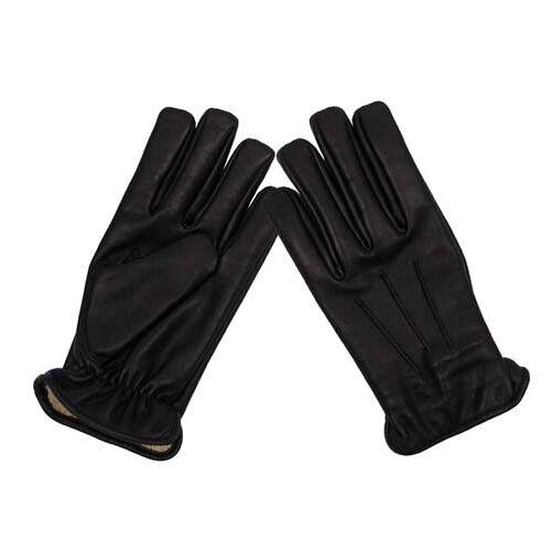 Lederhandschuhe, schwarz, mit schnitthemmend.KEVLAR(R)-Einl.