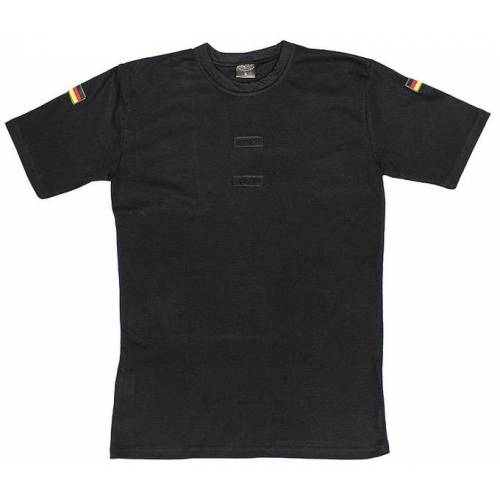 BW Tropenhemd, schwarz, Klett, Nationalitätsabzeichen