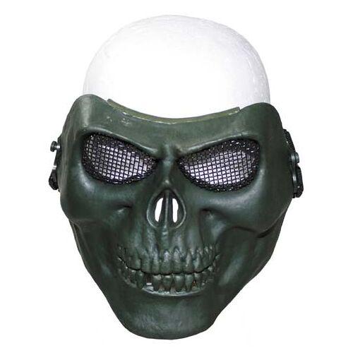 """Gittermaske, """"Totenkopf"""", oliv, Deko"""