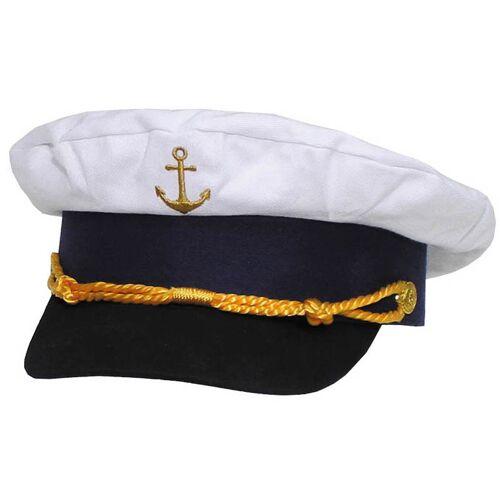 Marineschirmmütze, Anker gold bestickt