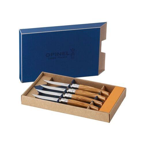 Opinel-Steakmesser,4er Set,Olivenholz,