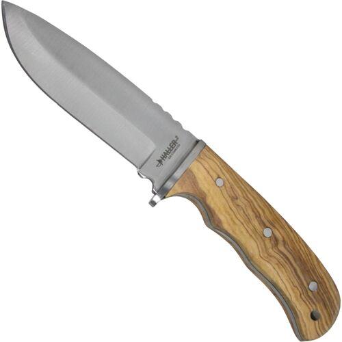 Messer mit Olivenholz Griff und Lederscheide