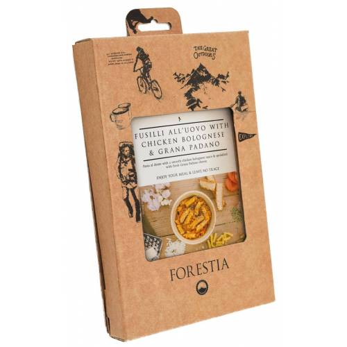 FORESTIA, Nudeln in Hühnchen-Bolognese, 7% Mwst.