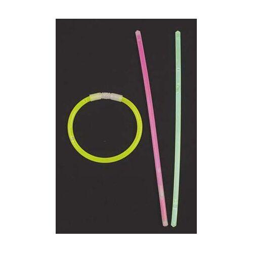 Leuchtstab, Halsband dünn, div. Farben, 65 Stk./Rolle