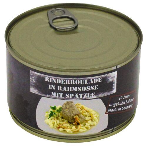 Rinderroulade mit Spätzle, Vollkonserve, 400 g, 5% Mwst.