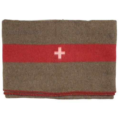 Braun Schweiz. Wolldecke, braun, 200 x 150 cm
