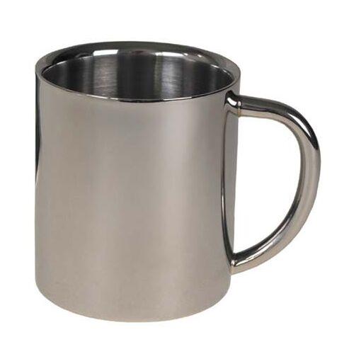 Tasse, Edelstahl, doppelwandig, 0,25 l