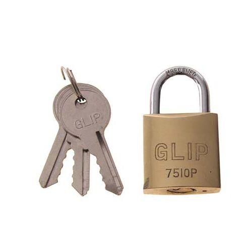 Vorhängeschloß, Metall, mit 3 Schlüsseln, Gr. 4,5 x 2,5 cm