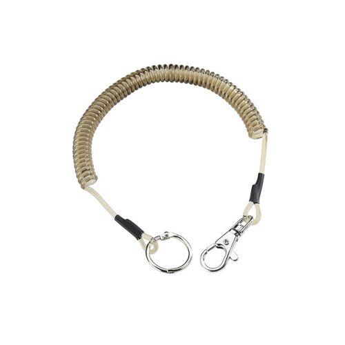 Nylon- Spirale,Länge 32cm Karabiner,Schlüsselring