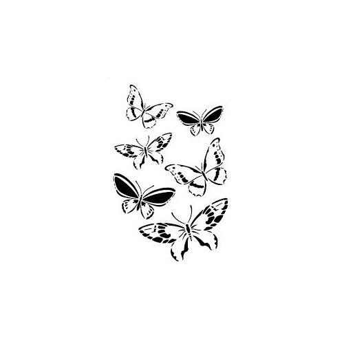 Dekorschablone Schmetterlinge