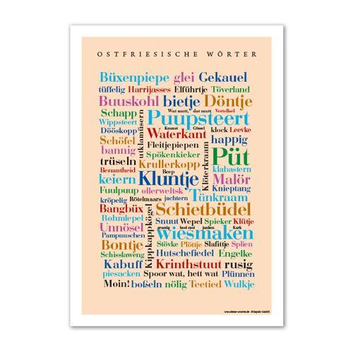 Poster Ostfriesische Wörter - DIN A4